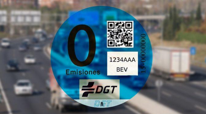 DGT pegatina emisiones