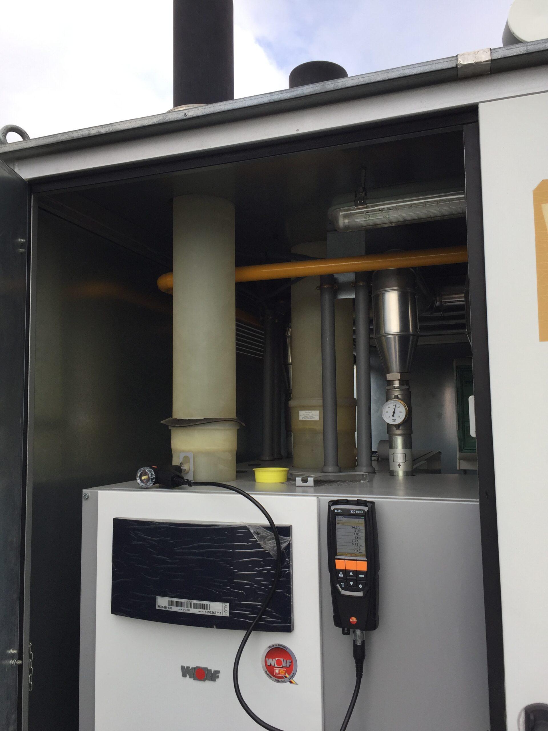 Prueba rendimiento de caldera de condensación