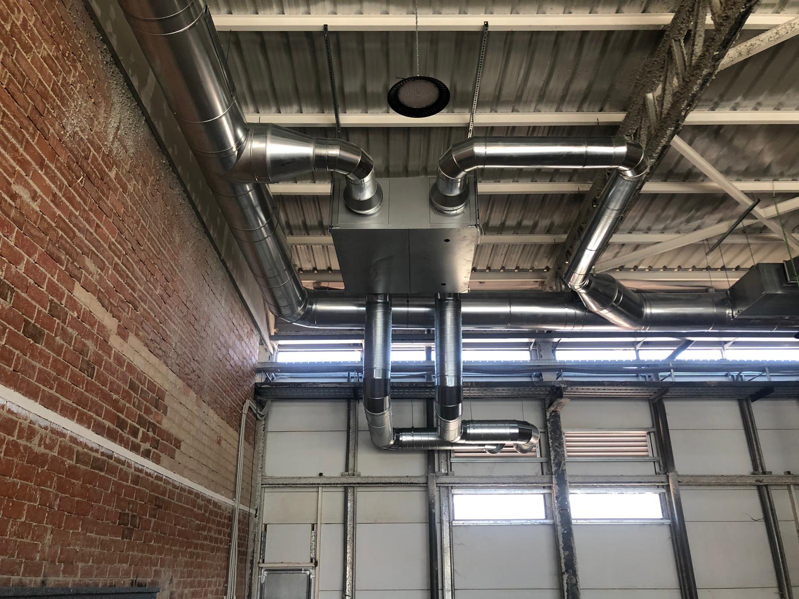 Recuperador de calor en falso techo